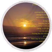 The Serenity Prayer Round Beach Towel by Tikvah's Hope