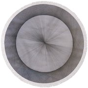 The Shape Of Pi Round Beach Towel