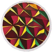 Round Beach Towel featuring the photograph Shapes Of Color by Kellice Swaggerty