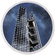 The Shards Of The Shard Round Beach Towel