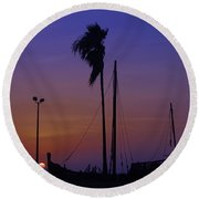 Round Beach Towel featuring the photograph The Ship by Leticia Latocki