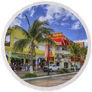 The Shops Of Cozumel Round Beach Towel