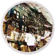 The Silver Factory / 231 East 47th Street Round Beach Towel