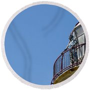 The Silver Man Round Beach Towel