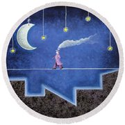 The Sleepwalker I Round Beach Towel