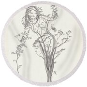 The Small Singer Round Beach Towel