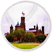 The Smithsonian Round Beach Towel
