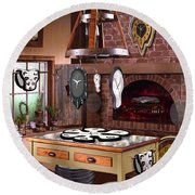 The Soft Clock Shop 2 Round Beach Towel by Mike McGlothlen