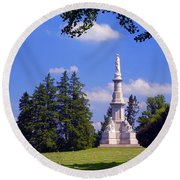 The Soldiers Monument Round Beach Towel