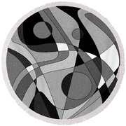 The Soloist - Black And White Round Beach Towel