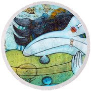 The Song Of The Mermaid Round Beach Towel