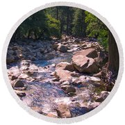 The Sound Of Silence Round Beach Towel by Dany Lison