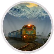 The Southerner Train New Zealand Round Beach Towel