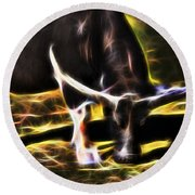 The Sparks Of Water Buffalo Round Beach Towel