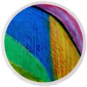 The Speed Of Light Round Beach Towel