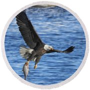 Round Beach Towel featuring the photograph The Spoils by Coby Cooper
