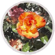 The Spring Rose Round Beach Towel