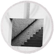 The Stairs In The Square Round Beach Towel