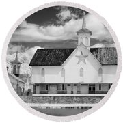 The Star Barn - Infrared Round Beach Towel