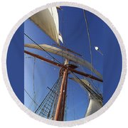 The Star Of India. Mast And Sails Round Beach Towel
