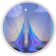 The Star Of Lothlorien Round Beach Towel