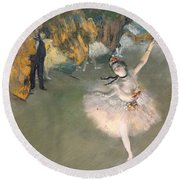 The Star Or Dancer On The Stage Round Beach Towel