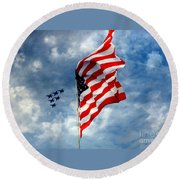 The Star Spangled Banner Yet Waves Round Beach Towel by Lydia Holly