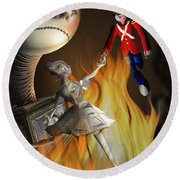 The Steadfast Tin Soldier ...the Envy... Round Beach Towel