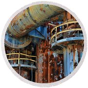 The Steel Mill Round Beach Towel
