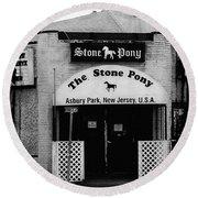 The Stone Pony Round Beach Towel