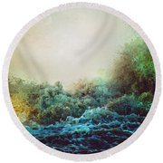 Round Beach Towel featuring the photograph The Storm by Jessica Brawley
