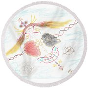 The Story Knows Best Round Beach Towel by Mark David Gerson