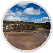 The Strand Inn And Dunmore Strand Round Beach Towel
