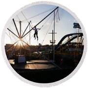 The Summer Fairground, Tramore, County Round Beach Towel