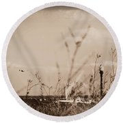 Round Beach Towel featuring the photograph The Summer Wind II by Aurelio Zucco