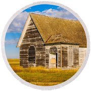 The Sunbeam Church Round Beach Towel by Mary Carol Story