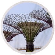 The Supertrees Round Beach Towel