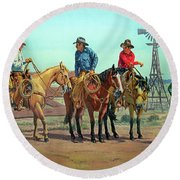 The Tale Spinner Round Beach Towel
