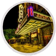 The Tampa Theater Round Beach Towel