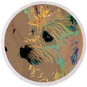 The Terrier Round Beach Towel