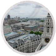 The Thames From St Paul's Round Beach Towel