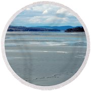 The Thaw Round Beach Towel