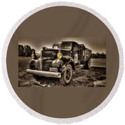 Tillamook Cheese Express Round Beach Towel