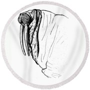 The Time Has Come The Walrus Said Round Beach Towel