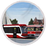 The Toronto Streetcar 100 Years Round Beach Towel