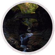 The Trail To Rivendell Round Beach Towel