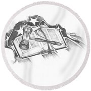 The Trials Of Life Round Beach Towel