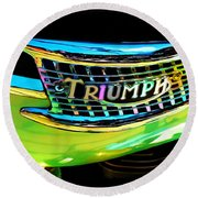 The Triumph Petrol Tank Round Beach Towel