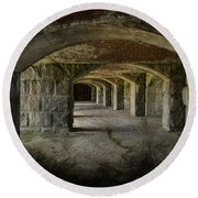The Tunnels Round Beach Towel
