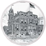 The Union League Philadelphia 1867 Round Beach Towel